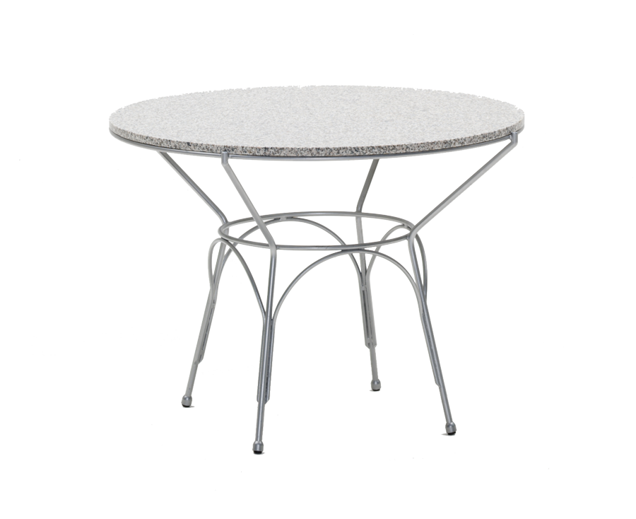 Table ronde uranus diam 100 cm plateau granit gris - Table ronde grise ...