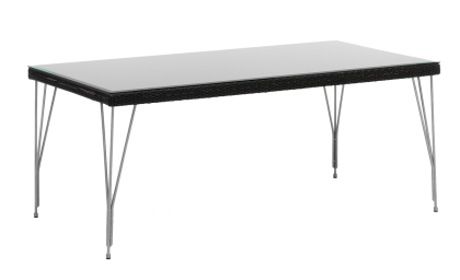 Table rectangulaire tresse 90 x 180 cm