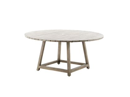 Table ronde en teck George diamètre 120 cm