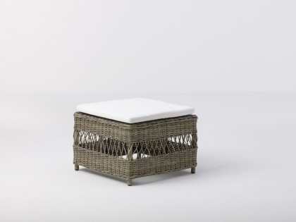 Table basse / repose-pieds Anna coussin écru inclus