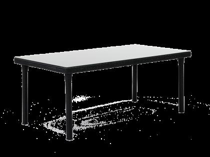 Table rectangulaire tresse 90 x 180 cm