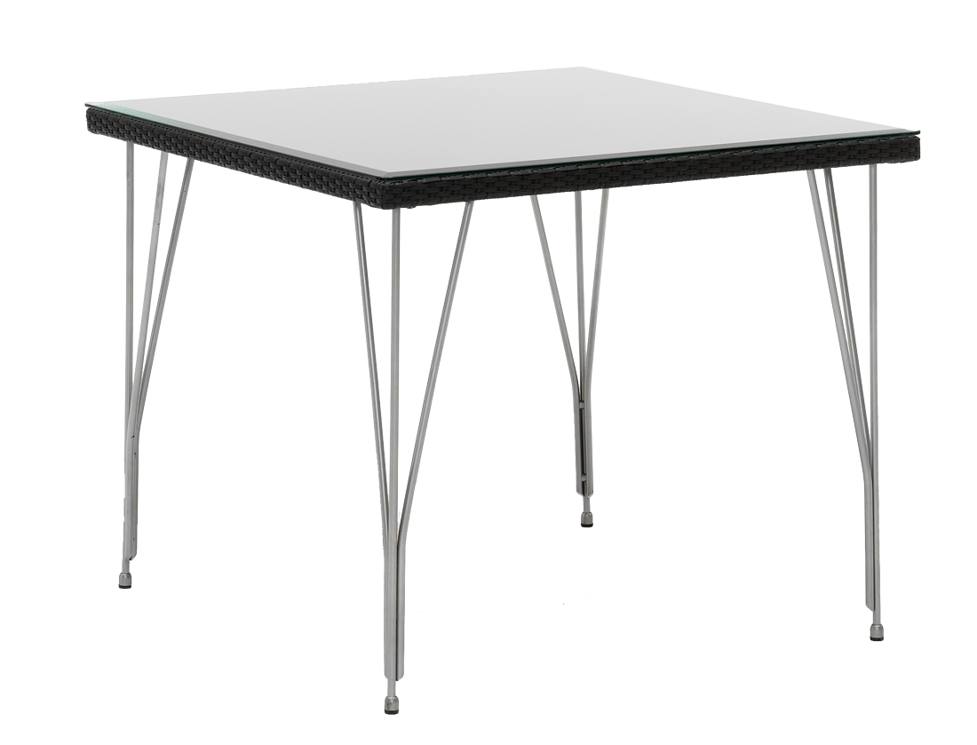 table carre tresse 90 x 90 cm. Black Bedroom Furniture Sets. Home Design Ideas