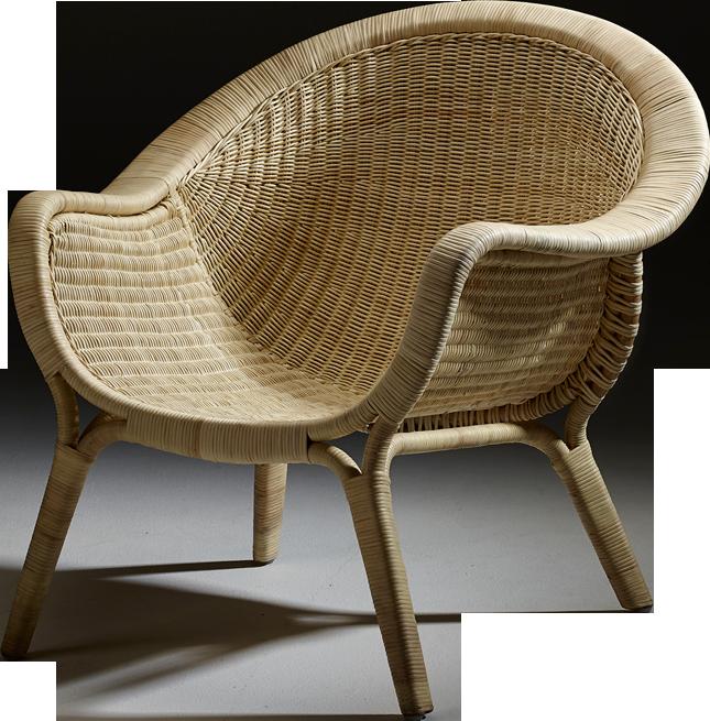 Fauteuil madame en rotin naturel for Catalogue de meubles en rotin