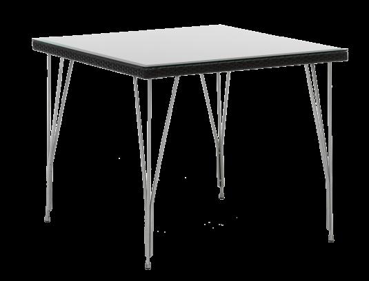 Table carre tresse 90 x 90 cm
