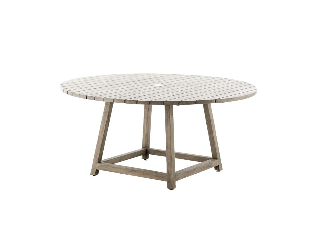 table ronde en teck george diam tre 160 cm. Black Bedroom Furniture Sets. Home Design Ideas