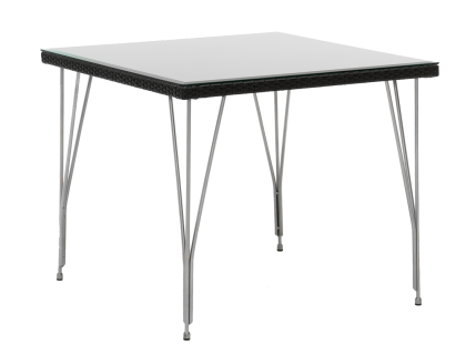 Table carre tresse 90 x 90 cm