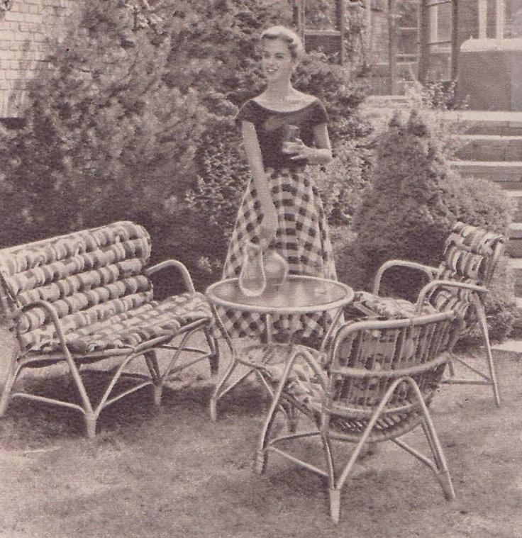 Des meubles en rotin pendant les années 50