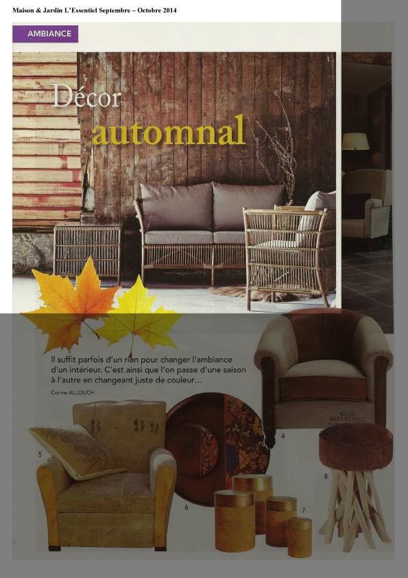 Maison & Jardin L'Essentiel Septembre - Octobre 2014